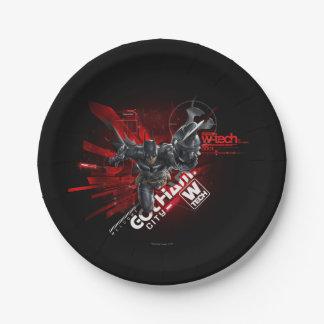 W-Tech Red Batman Graphic 7 Inch Paper Plate