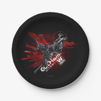 W-Tech Red Batman Graphic Paper Plate