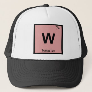 W - Tungsten Chemistry Periodic Table Symbol Trucker Hat