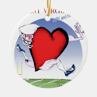 w virginia head heart, tony fernandes round ceramic decoration