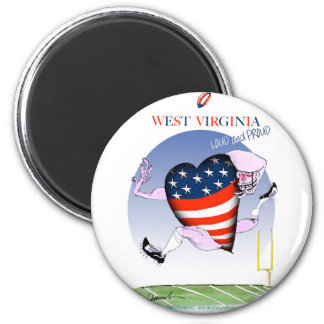 w virginia loud and proud,tony fernandes 6 cm round magnet