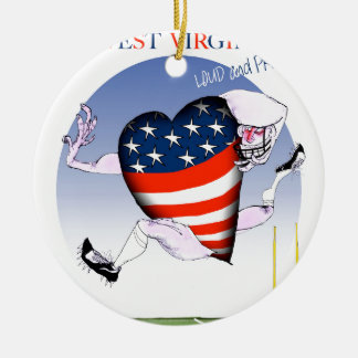 w virginia loud and proud,tony fernandes round ceramic decoration