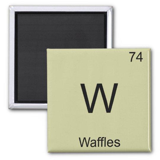 W - Waffles Funny Chemistry Element Symbol T-Shirt Square Magnet