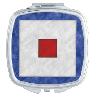 W Whiskey Watercolor Nautical Signal Maritime Flag Mirror For Makeup