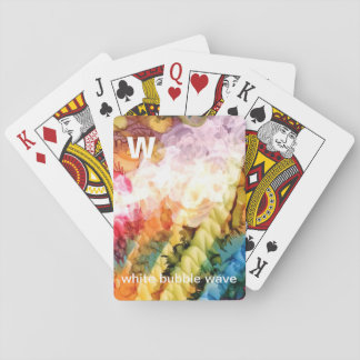 W - White Bubble Wave alphabet art playing cards