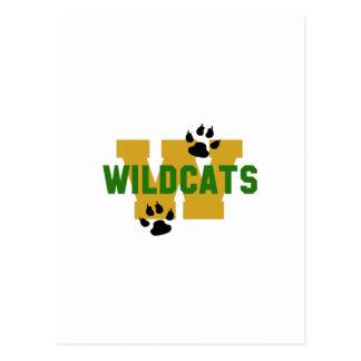 W WILDCATS POSTCARD