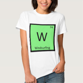 W - Windsurfing Sports Chemistry Periodic Table Tees