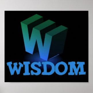 W WISDOM BLACK POSTERS