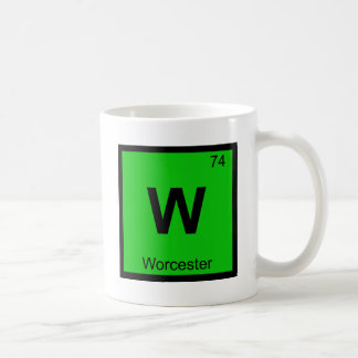 W - Worcester Massachusetts Chemistry Symbol Coffee Mug