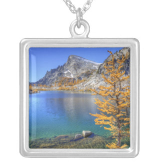 WA, Alpine Lakes Wilderness, Enchantment 4 Silver Plated Necklace