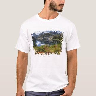 WA, Alpine Lakes Wilderness, Gem Lake, with T-Shirt