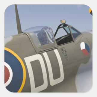 WA, Arlington, Arlington Fly-in, World War II 5 Square Sticker