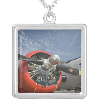 WA, Arlington, Arlington Fly-in, World War II 7 Square Pendant Necklace