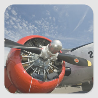 WA, Arlington, Arlington Fly-in, World War II 7 Square Sticker