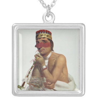 Wa-Em-Boesh-Kaa, a Chippeway Chief Silver Plated Necklace