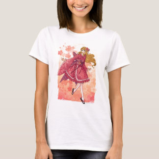 Wa-lolita anime girl art Ladies fitted t-shirt