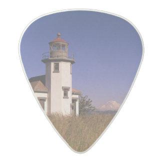 WA, Maury Island, Point Robinson Lighthouse, Acetal Guitar Pick