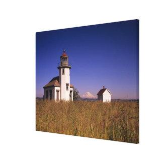 WA, Maury Island, Point Robinson Lighthouse, Canvas Print