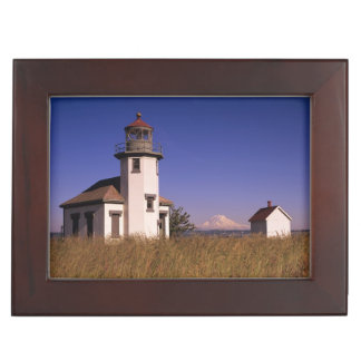 WA, Maury Island, Point Robinson Lighthouse, Keepsake Box