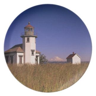 WA, Maury Island, Point Robinson Lighthouse, Plate