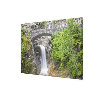 WA, Mount Rainier National Park, Christine Falls Stretched Canvas Prints
