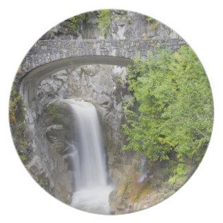 WA, Mount Rainier National Park, Christine Falls Plate