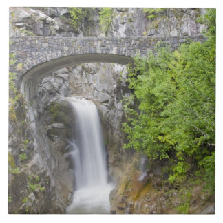 WA, Mount Rainier National Park, Christine Falls Large Square Tile