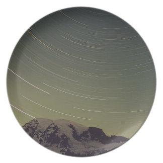 WA, Mount Rainier National Park, Mount Rainier, Party Plate