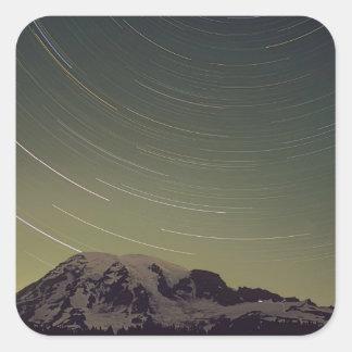 WA, Mount Rainier National Park, Mount Rainier, Square Sticker