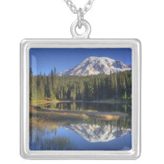 WA, Mt. Rainier National Park, Mt. Rainier Silver Plated Necklace