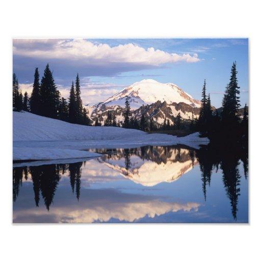 WA, Mt. Rainier NP, Mt. Rainier and clouds Photo Print