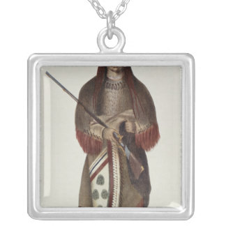 Wa-Na-Ta or 'The Charger', Grand Chief Square Pendant Necklace