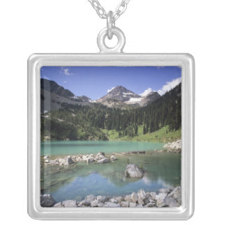 WA, Okanogan NF, Lewis Lake and Black Peak Silver Plated Necklace
