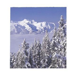 WA, Olympic NP, Olympic Mountain Range, view Notepad