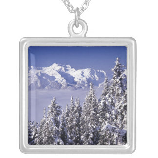 WA, Olympic NP, Olympic Mountain Range, view Silver Plated Necklace