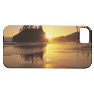 WA, Olympic NP, Second Beach at sunset iPhone 5 Cover