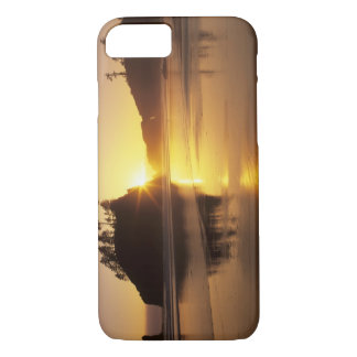 WA, Olympic NP, Second Beach at sunset iPhone 8/7 Case