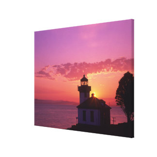 WA, San Juan Island, Lime Kiln Lighthouse, 1919, 2 Canvas Print