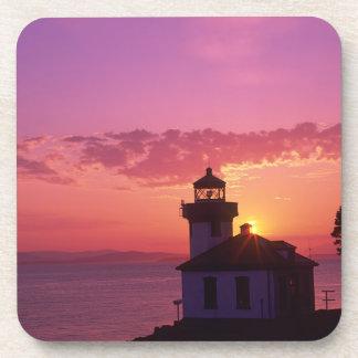 WA, San Juan Island, Lime Kiln Lighthouse, 1919, 2 Coasters