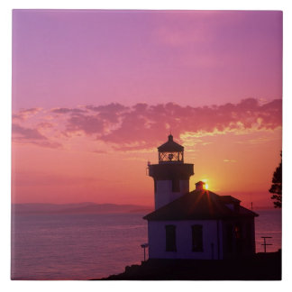 WA, San Juan Island, Lime Kiln Lighthouse, 1919, 2 Tile