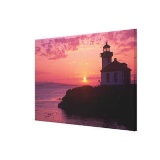 WA, San Juan Island, Lime Kiln Lighthouse, 1919, Canvas Print