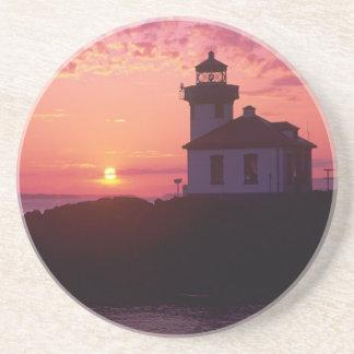 WA, San Juan Island, Lime Kiln Lighthouse, 1919, Coasters