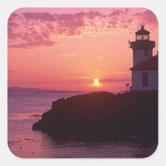 WA, San Juan Island, Lime Kiln Lighthouse, 1919, Square Sticker