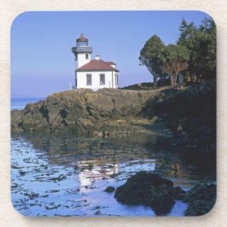 WA, San Juan Island, Lime Kiln lighthouse Beverage Coasters