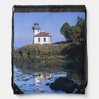 WA, San Juan Island, Lime Kiln lighthouse Drawstring Bag