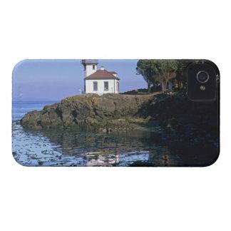 WA, San Juan Island, Lime Kiln lighthouse iPhone 4 Case-Mate Case