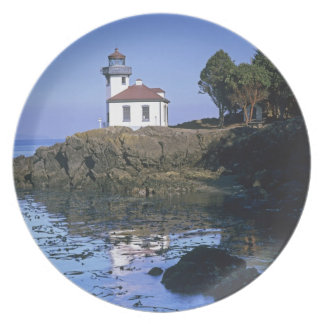 WA, San Juan Island, Lime Kiln lighthouse Plates