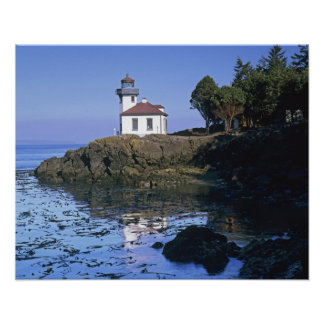 WA, San Juan Island, Lime Kiln lighthouse Poster