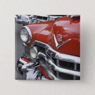 WA, Seattle, classic American automobile. 15 Cm Square Badge