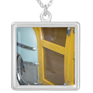 WA, Seattle, classic American automobile. 2 Silver Plated Necklace